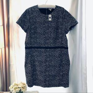 GAP Back Zip Short Sleeve Print Dress with Pockets